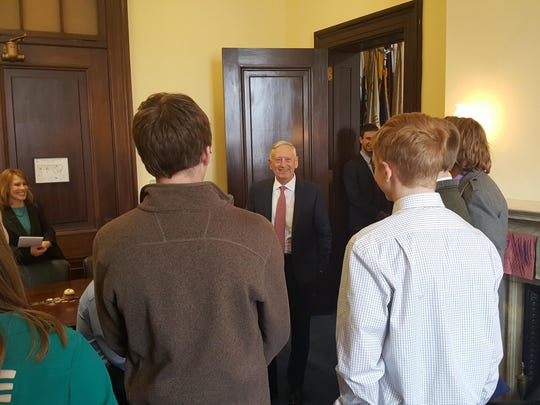 C.M. Russell students meet with the Defense Secretary James Mattis in Washington, D.C.