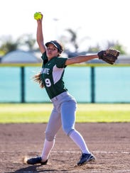 El Diamante's Jackie Luna hurled eight strikeouts in