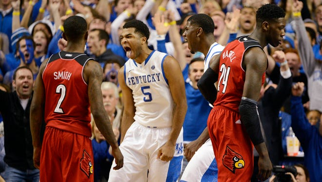 Andrew Harrison helped Kentucky knock off Louisville in December, but much more will be at stake Friday when the teams meet in the NCAA tournament.