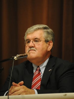 Ray Ergenbright listens during a candidate forum during a failed attempt to join the General Assembly in 2009.