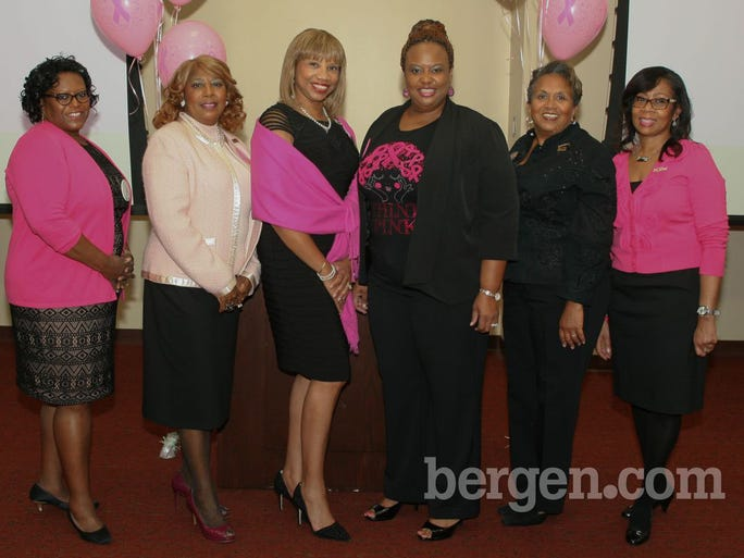 Dr. Menen Mathias-Fredericks, Sonia Tracey, Yvonne Witter (President), Paula Madison-Ryner (Health Comittee Chair), Gail Gravely-Cheesman, Janis Johnson (PR Chair)