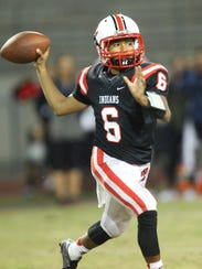 Palm Springs High School's quarterback Jeremy Dotson