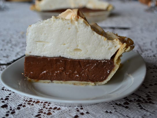 Chocolate meringue pie is not traditional, but there