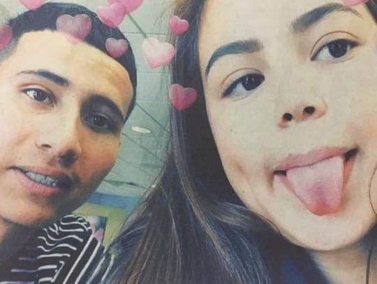 Jose Lopez, left and Jasmin Gutierrez