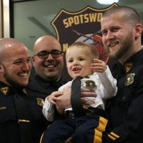 Two-year-old with rare genetic disease joins Spotswood police force
