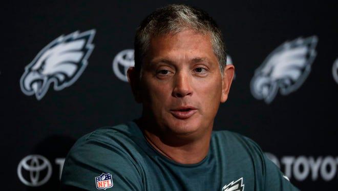 Philadelphia Eagles defensive coordinator Jim Schwartz.