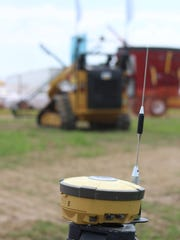 Farb Guidance Systems' first GPS-guided tractor, which