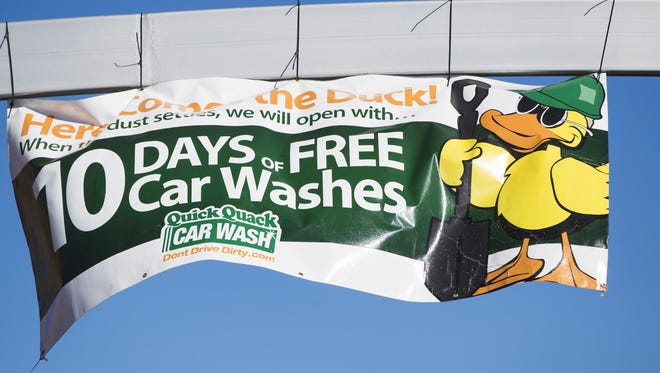 Quick Quack is entering the metro Phoenix car-wash market. Locations under construction include this one at 2844 E. McKellips Road in Mesa.