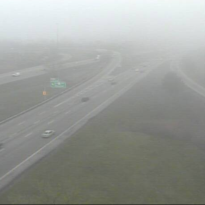 Patchy fog reported on I-77 near I-277 in Akron.