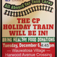 Holiday Train food drive for Tosa Cares in full swing