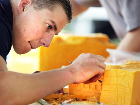 A cheese-carving contest will be Thursday afternoon