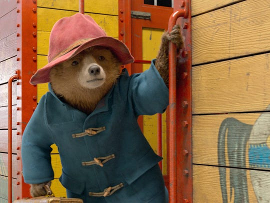 Paddington, voiced by Ben Whishaw, in a scene from