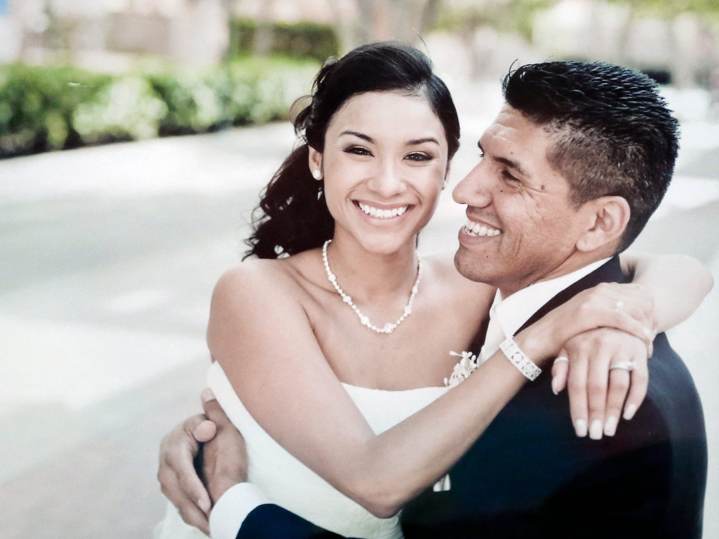Carmen Ramirez-Salazar and Rich Salazar during their
