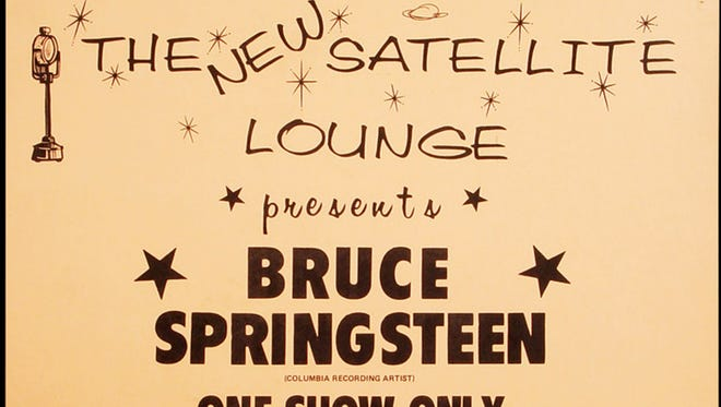 A flyer for Bruce Springsteen at the Satellite Lounge in 1974.