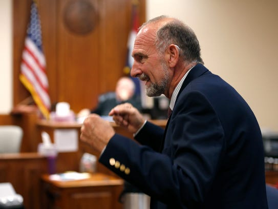 Defense attorney Jon Van Arkel delivers closing arguments
