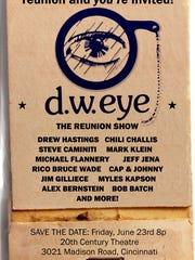 12 of the previous d.w. eye comics will gather for a one-time-only reunion at the 20th Century Theatre on June 23 at 8 p.m.