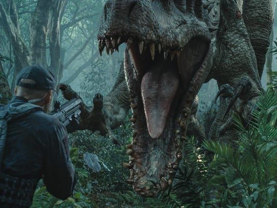 The Indominus rex is an impressive sight in 'Jurassic World.'