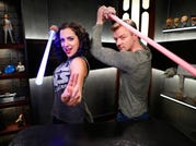 """Andi Gutierrez and Peter Townley host """"The Star Wars Show."""""""