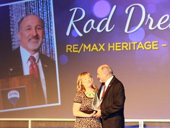 Rod Drendel, right, broker/owner of RE/MAX Heritage,