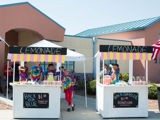 Lemonade stands set up  at Jardín de los Niños, Thursday, June 22, 2017. Money collected from the stands is going to the Southern New MexicoFallen Peace Officers Memorial fund.
