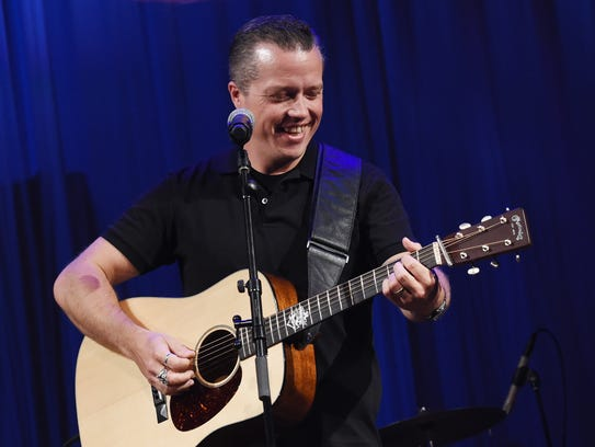 Singer-songwriter Jason Isbell performs during The