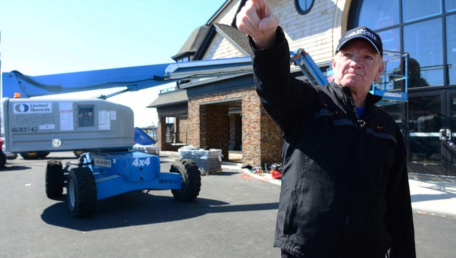 Tim McLoone oversees construction of The Rum Runner, his rebuilt Sea Bright restaurant.