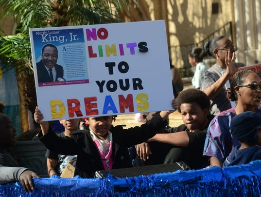 Dr. Martin Luther King Day Parade Monday, Jan. 19, 2014.