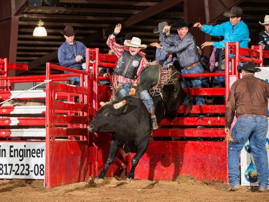 Professional bull rider Venn Johns