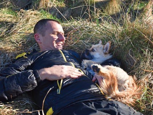 Dion Leonard and his dog Gobi
