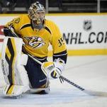 Predators goaltender Pekka Rinne.