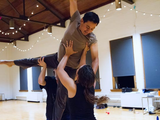 A recent rehearsal by members of MamLuft&Co. Dance.