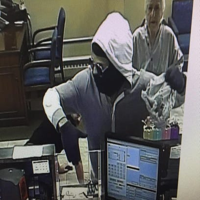 Police are searching for the suspect who robbed a Chase Bank in Hyde Park late Friday morning.