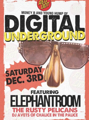 Hip hop duo Digital Underground plays a rare, free show at the Red Dot Saturday. It's open to the public.
