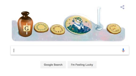 The Google Doodle in honor of Robert Koch, whose work