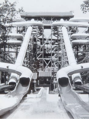 1991: A section of Adventure Rivers at Six Flags Great Adventure.
