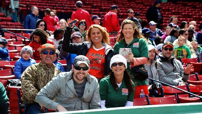 FAMU fans watch the Rattlers play baseball against North Carolina Central in Fenway Park.
