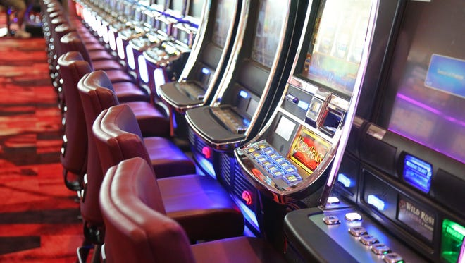 A row of games at the Wild Rose Casino on Wednesday, July 29, 2015, in Jefferson.