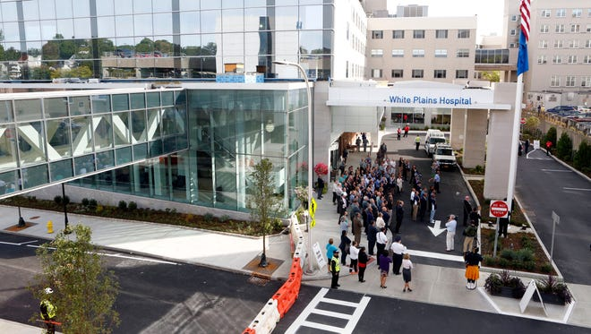 White Plains Hospital had a ceremony Monday to mark the opening of the new main entrance and lobby.