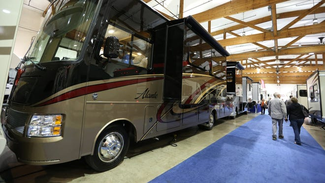 A 2016 Jayco Alante motorhome was on display at the fall RV Show Saturday, Oct. 17, 2015, at the Oregon State Fairgrounds in Salem. 