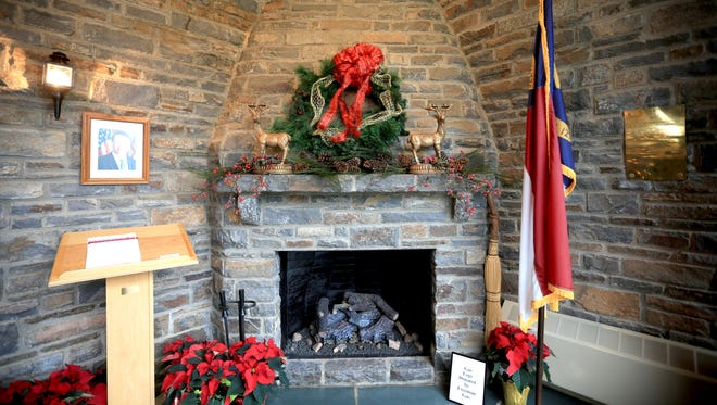 The Governor's Western Residence is decorated for the holidays each year. This photo is from the 2013 open house.
