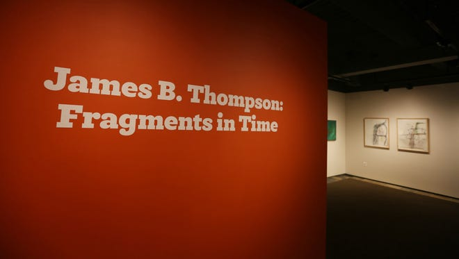 James B. Thompson, professor of art at Willamette University, talks about his work featured in a retrospective art exhibit at the Hallie Ford Museum of Art on Friday, Jan. 15, 2016.