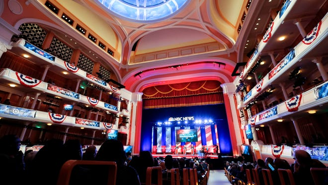 The Democratic presidential debate at the Gaillard Center on Jan. 17, 2016, in Charleston, S.C.