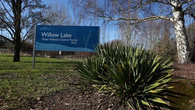 The entrance to the Willow Lake Water Pollution Control Facility in Keizer. Photographed on Monday, Feb. 8, 2016.