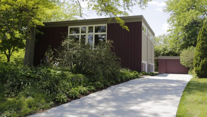 Jim Sondgeroth's West Lafayette home on May 18, 2016. The square-shaped house was designed by former architect Evans Woollen in 1958.