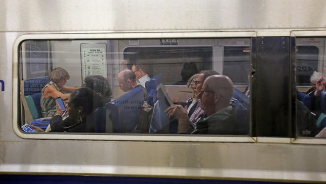 Metro North passengers at Grand Central Terminal in Manhattan.