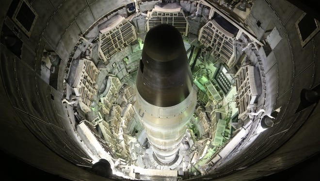 "A Titan missile in a scene from Robert Kenner's documentary ""Command and Control,"" now playing in select theaters."