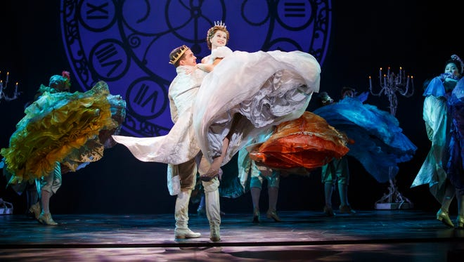 Hayden Stanes, Tatyana Lubov and the company of 'Rodgers + Hammerstein's Cinderella.'