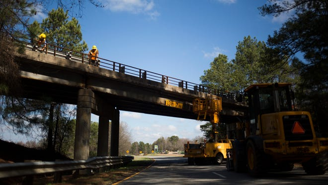 U.S. 29 North remains closed on Thursday, February 23, after a transport truck slammed into the S.C. 20/U.S. 29 Connector bridge on Wednesday.