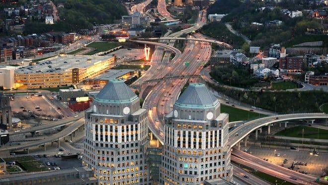 Headquarters of Procter & Gamble in downtown Cincinnati.