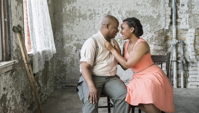 "Musa Ngqungwana stars as Porgy and Talise Trevigne is Bess in the Glimmerglass Festival production of ""Porgy and Bess."""